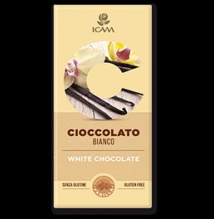 Tavoletta di cioccolato bianco senza glutine