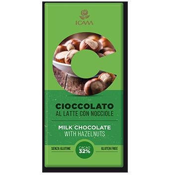 cioccolato al latte con nocciole Linea C