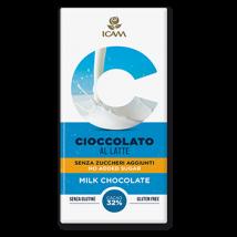 cioccolato al latte senza zucchero